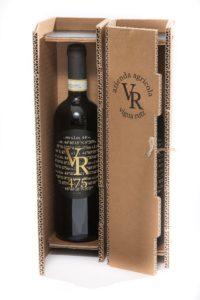 Geschenkbox Weinflasche einzeln ausgeklügelte Kartonbox