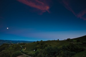 Nachthimmel über der azienda agricola vigna rutz